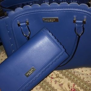 Kate Spade Blue Linzi Satchel Shoulder Purse